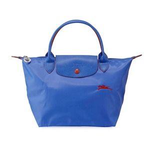 Longchamp Le Pilage Club Small Myosotis Blue Bag
